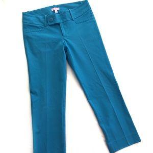 Lilly Pulitzer vibrant blue crop pants